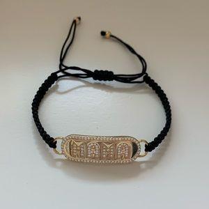 Mama Nameplate Cord Bracelet